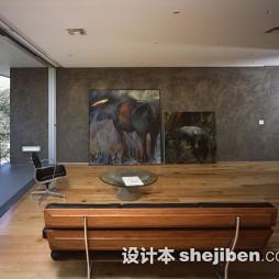 家装休闲区实木家具效果图