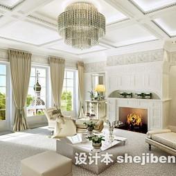 简欧客厅装饰窗帘图片