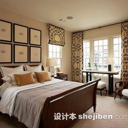卧室几何图案窗帘图片