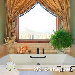 浴室烫金窗帘效果图