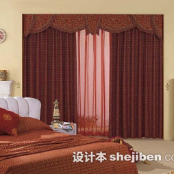 卧室英伦风窗帘图片