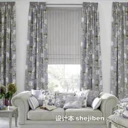 现代印花窗帘图片大全