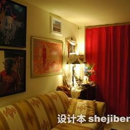 家装客厅隔断窗帘图片大全
