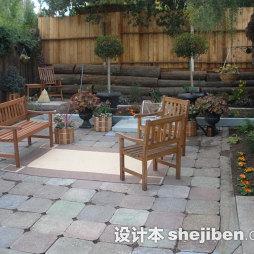 花园地板砖装修图片