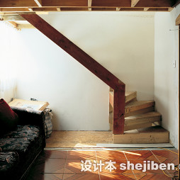 LOFT客厅地板砖拼花效果图