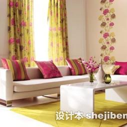 黄色茶几地毯图片