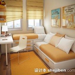 书房黄色地毯图片
