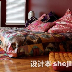 卧室复古地毯图片欣赏