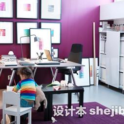 书房紫色地毯图片欣赏