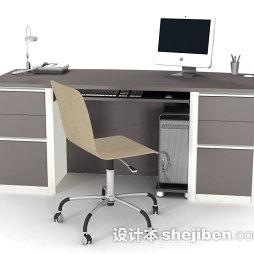 现代办公电脑桌图片