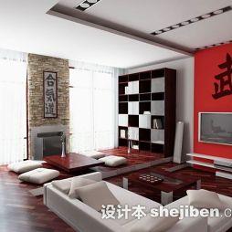 日式客厅电视墙图片大全