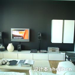 简约家装客厅电视墙装修效果图