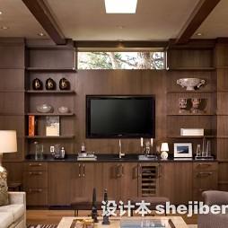 客厅嵌入式电视墙装修效果图