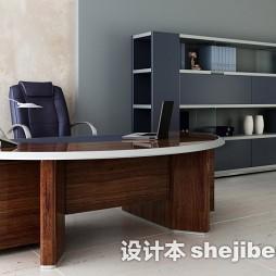 圆形书桌房子装修效果图