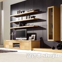 组合电视柜实木家具图片
