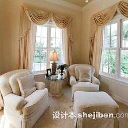 欧式休闲区沙发效果图欣赏