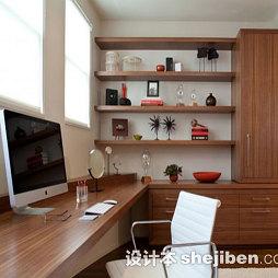 中式书房实木家具装修效果图