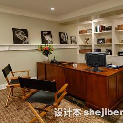 美式书房实木家具图片大全