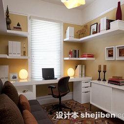 小书房卷帘窗帘效果图