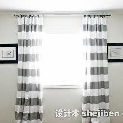 横纹窗帘装修效果图片