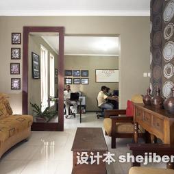 白色镜面室内地板砖装修图片