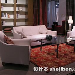 客厅红色印花地毯图片
