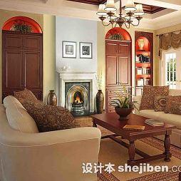 美式风格客厅茶几地毯图片