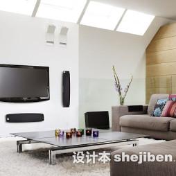 现代风格客厅长绒地毯图片