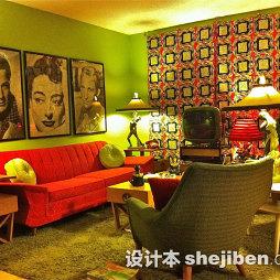 混搭风格客厅地毯图片