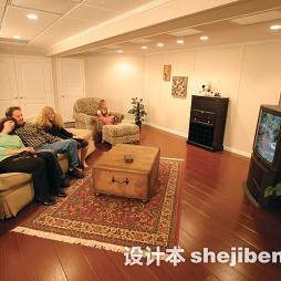 美式客厅印花地毯图片