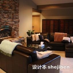 客厅复古电视墙装修效果图