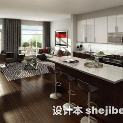 开放式厨房实木家具效果图片