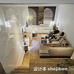 复式小客厅沙发效果图大全2017图片