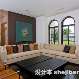 新古典客厅沙发背景墙装饰画效果图片大全