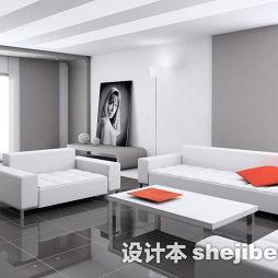 白色家具房子装修效果图