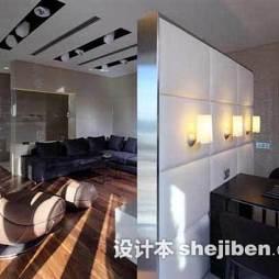 客厅餐厅隔断设计家庭室内装修图片