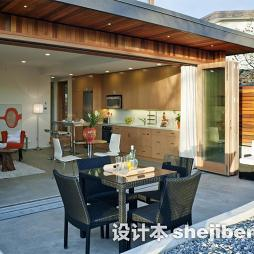 房屋装修样板间户外餐桌设计