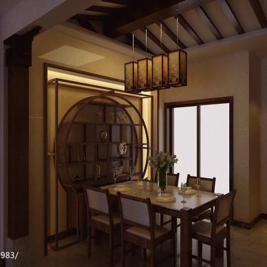 碧桂园别墅中式风餐厅博物架图片欣赏
