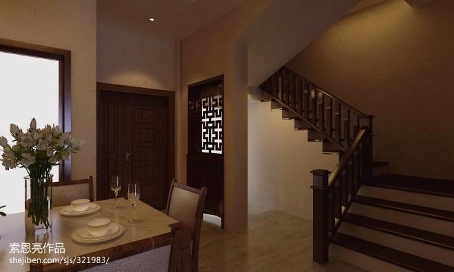 别墅中式风子母门设计效果图