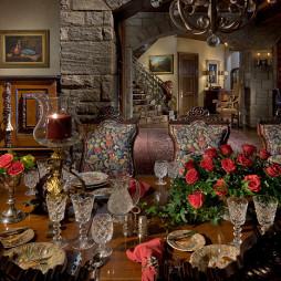 哥特式餐厅水晶杯图片欣赏