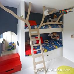 儿童房高低床装修效果图