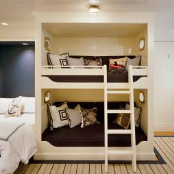 上下鋪木床設計效果圖