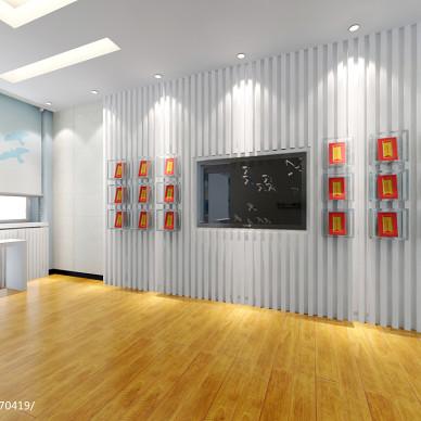 小学教室讲桌背景墙装修效果图