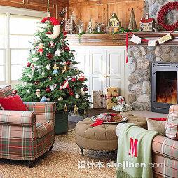 客厅圣诞装饰图片