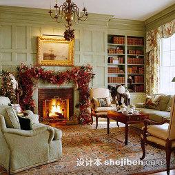 欧式客厅圣诞装饰图片
