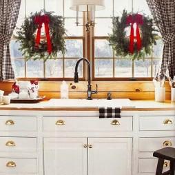 简欧厨房圣诞装饰图片