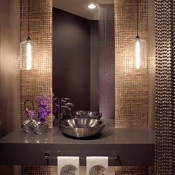 马赛克厕所瓷砖装修效果图