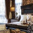 欧式奢华卧室窗帘效果图