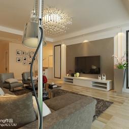 现代风格客厅硅藻泥电视墙设计图片欣赏