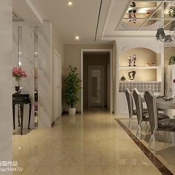 欧式风格客厅过道效果图片